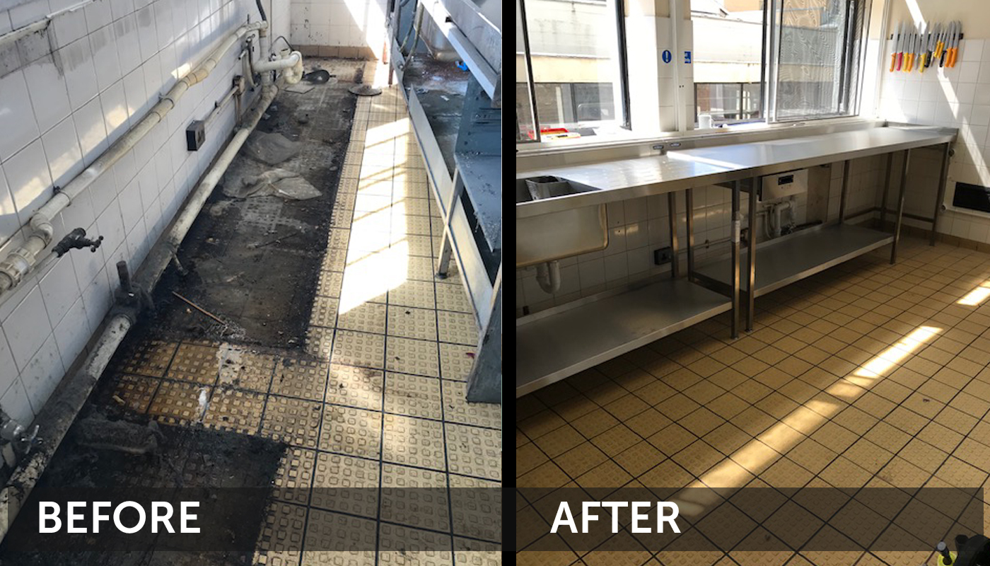 Before and After Kitchen Clean Cleantec Innovation